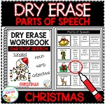 Dry Erase Parts of Speech Workbook: Christmas ~Digital Download~